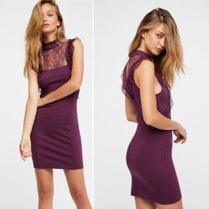 Free people Beaumont Muse Lace Trim Dress S NWT